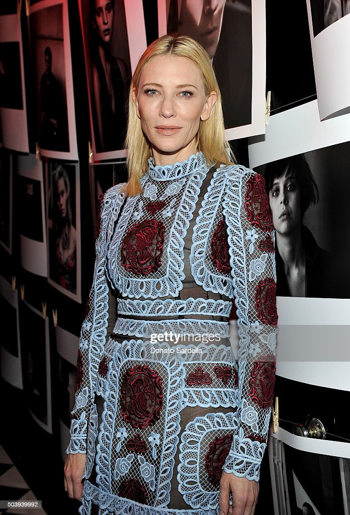 Actress Cate Blanchett attends the W Magazine celebration of the 'Best Performances' Portfolio and The Golden Globes with Audi and Dom Perignon at Chateau Marmont on January 7, 2016 in Los Angeles, California.