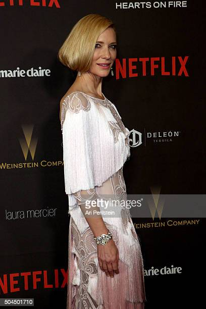 Actress Cate Blanchett attends The Weinstein Company Netflix 2016 Golden Globe Awards After Party at The Beverly Hilton Hotel on January 10 2016 in...