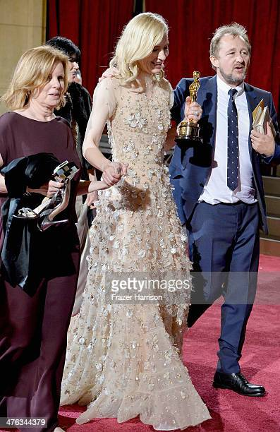 Actress Cate Blanchett departs the Oscars at Hollywood Highland Center on March 2 2014 in Hollywood California
