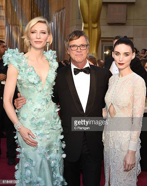 Actress Cate Blanchett Director Todd Haynes and Actress Julianne Moore attend the 88th Annual Academy Awards at the Hollywood Highland Center on...