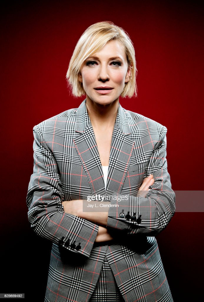 Actress Cate Blanchett, from the film 'Thor: Ragnarok,' is photographed in the L.A. Times photo studio at Comic-Con 2017, in San Diego, CA on July 22, 2017.