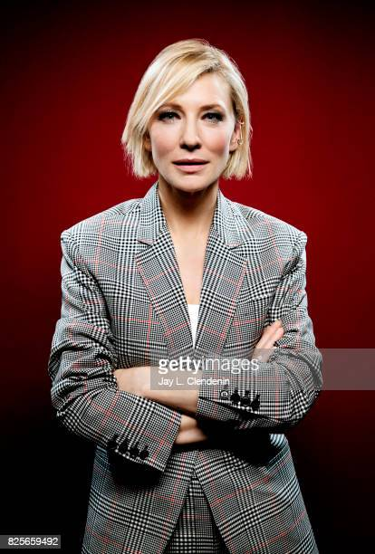 Actress Cate Blanchett from the film Thor Ragnarok is photographed in the LA Times photo studio at ComicCon 2017 in San Diego CA on July 22 2017...