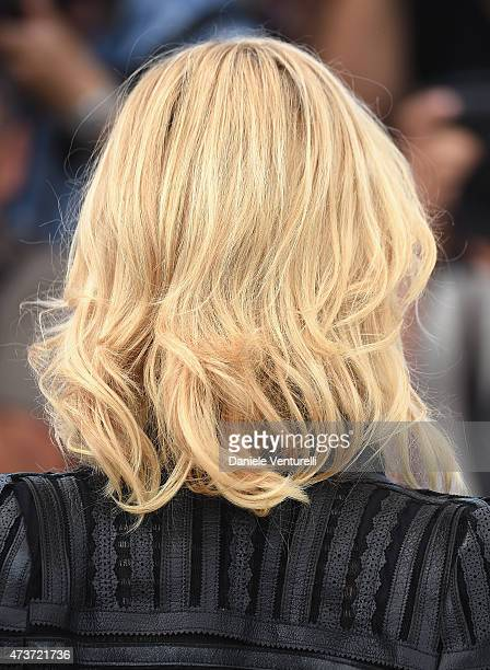 Actress Cate Blanchett hair detail attends the Carol Photocall during the 68th annual Cannes Film Festival on May 17 2015 in Cannes France