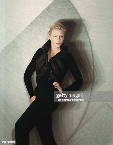 Actress Cate Blanchett is photographed for Madame Figaro on May 9 2017 in New York City Coat and pants by Giorgio Armani PUBLISHED IMAGE CREDIT MUST...