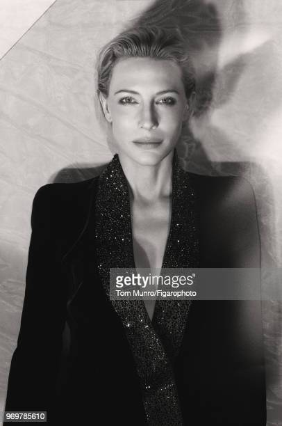 Actress Cate Blanchett is photographed for Madame Figaro on May 9 2017 in New York City Coat by Giorgio Armani CREDIT MUST READ Tom...