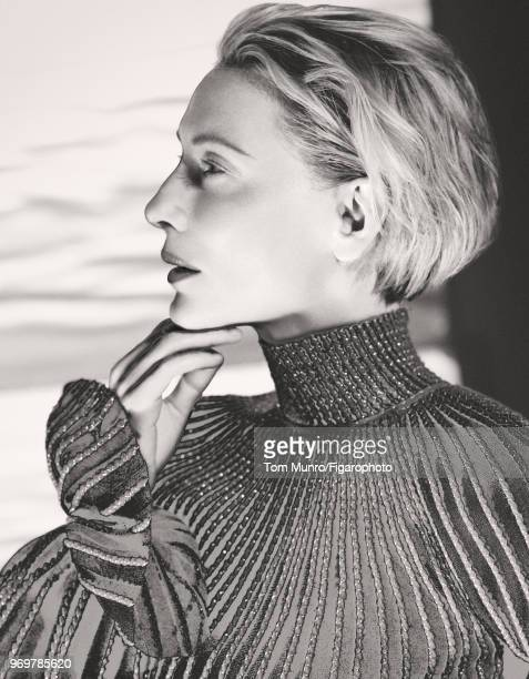 Actress Cate Blanchett is photographed for Madame Figaro on May 9 2017 in New York City Dress by Alexander McQueen PUBLISHED IMAGE CREDIT MUST READ...