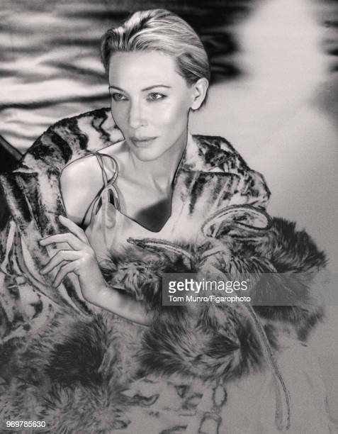 Actress Cate Blanchett is photographed for Madame Figaro on May 9 2017 in New York City Coat boa and dress by Y/Project PUBLISHED IMAGE CREDIT MUST...