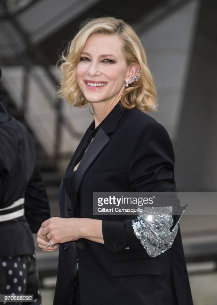 Actress Cate Blanchett is seen arriving to the 2018 CFDA Fashion Awards at Brooklyn Museum on June 4 2018 in New York City