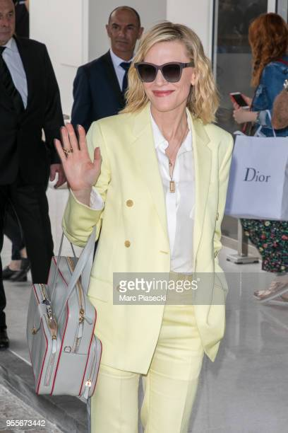 Actress Cate Blanchett is seen at Grand Hyatt Martinez Hotel during the 71st annual Cannes Film Festival at on May 7 2018 in Cannes France