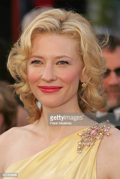 """Actress Cate Blanchett nominated for Best Actress in a Supporting Role for her performance in """"The Aviator"""" arrives at the 77th Annual Academy Awards..."""