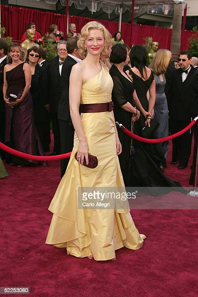 Actress Cate Blanchett nominated for Best Actress in a Supporting Role for her performance in 'The Aviator' arrives the 77th Annual Academy Awards at...