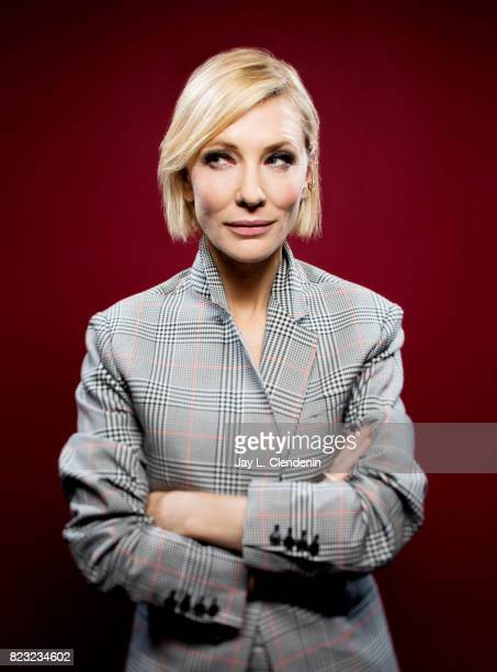 Actress Cate Blanchett of Marvel's 'ThorRagnarok' poses for a portrait at San Diego Comic Con for Los Angeles Times on July 21 2017 in San Diego...