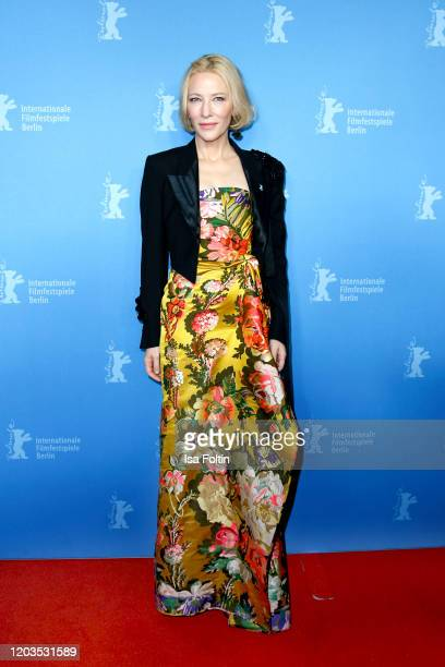 "Actress Cate Blanchett poses at the ""Stateless"" premiere during the 70th Berlinale International Film Festival Berlin at Zoo Palast on February 26,..."