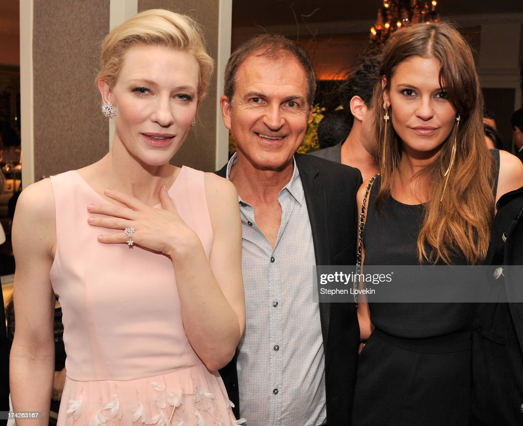 Actress Cate Blanchett, producer Edward Walson, and model Dominique Piek attend the after party for the New York Premiere of 'Blue Jasmine' at Harlow on July 22, 2013 in New York City.