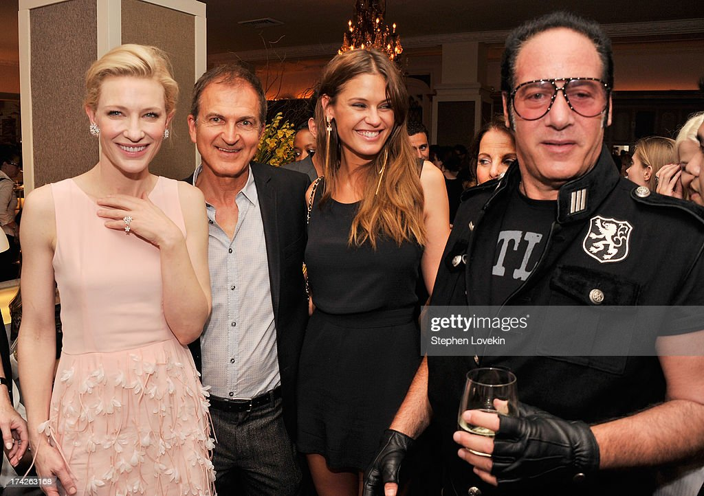 Actress Cate Blanchett, producer Edward Walson, model Dominique Piek, and actor/comdian Andrew Dice Clay attend the after party for the New York Premiere of 'Blue Jasmine' at Harlow on July 22, 2013 in New York City.