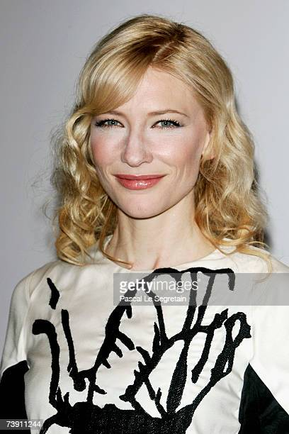 Actress Cate Blanchett she arrives to attend the IWC Da Vinci Launch party held at the Geneva Palaexpo on April 17, 2007 in Geneva, Switzerland.