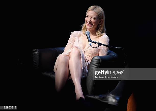 Actress Cate Blanchett speaks onstage at the Gala Tribute To Cate Blanchett during the 51st New York Film Festival at Alice Tully Hall at Lincoln...