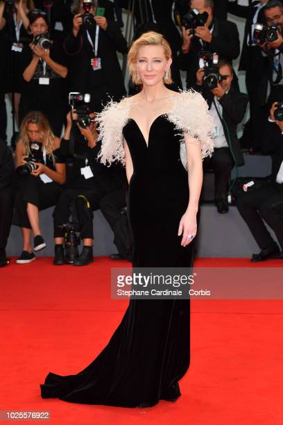 Actress Cate Blanchett walks the red carpet ahead of the 'A Star Is Born' screening during the 75th Venice Film Festival at Sala Grande on August 31,...