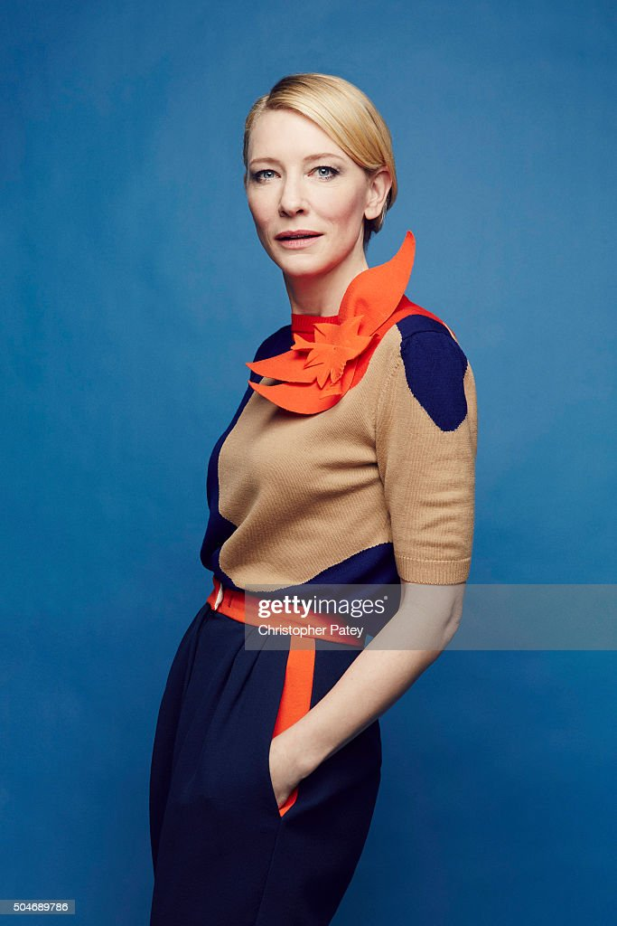 Actress Cate Blanchett wearing Delpozo poses for a portrait at the 2016 Film Independent Filmmaker Grant And Spirit Award Nominees Brunch on January 9, 2016 in Los Angeles, California.