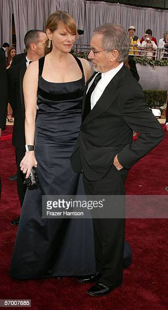 Actress Cate Capshaw and director Steven Spielberg arrive to the 78th Annual Academy Awards at the Kodak Theatre on March 5, 2006 in Hollywood,...