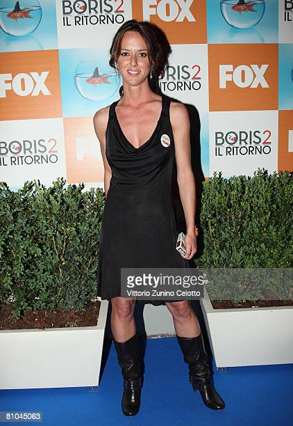 Actress Caterina Guzzanti attend the 'Boris 2' Party Launch Organized by Fox TV on May 09 2008 in Milan Italy