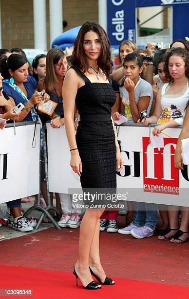 Actress Caterina Murino arrives to attend the meeting with the children of the jury during Giffoni Experience 2010 on July 26 2010 in Giffoni Valle...