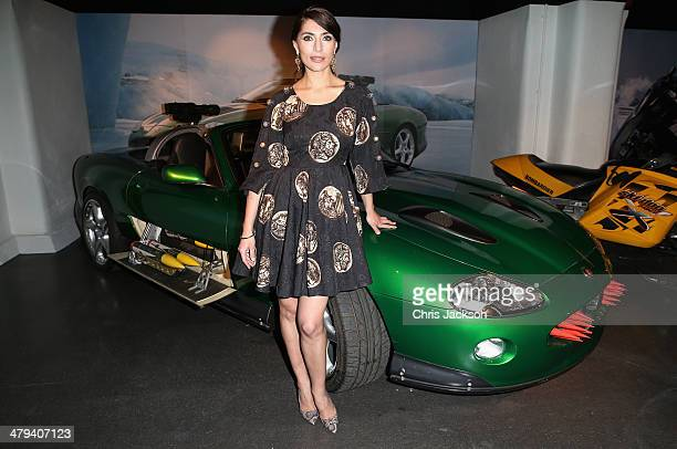 Actress Caterina Murino attends a party ahead of the opening of the Bond In Motion exhibition at the London Film Museum on March 18 2014 in London...