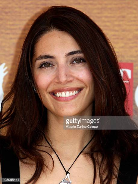 Actress Caterina Murino attends a photocall during Giffoni Experience 2010 on July 26 2010 in Giffoni Valle Piana Italy