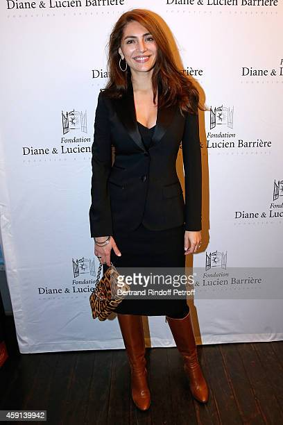 Actress Caterina Murino attends 'Les Heritiers' receives Cinema Award 2014 of Foundation Diane Lucien Barriere during the premiere of the movie at...