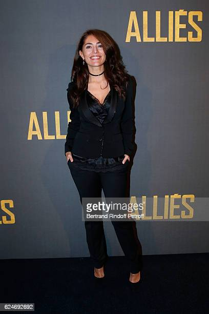 Actress Caterina Murino attends the Allied Allies Paris Premiere at Cinema UGC Normandie on November 20 2016 in Paris France