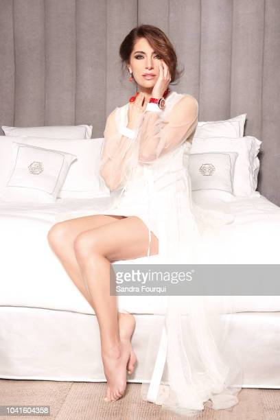 Actress Caterina Murino is photographed for Blush, on April 2018 in Paris, France. . .