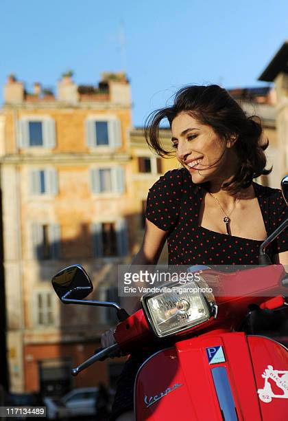 Actress Caterina Murino is photographed for Le Figaro Magazine on February 24 2011 in Rome Italy Published image Figaro ID 100473012 Dress by Dolce...