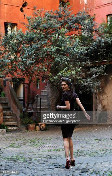 Actress Caterina Murino is photographed for Le Figaro Magazine on February 24 2011 in Rome Italy Figaro ID 100473044 Dress by Dolce Gabbana CREDIT...