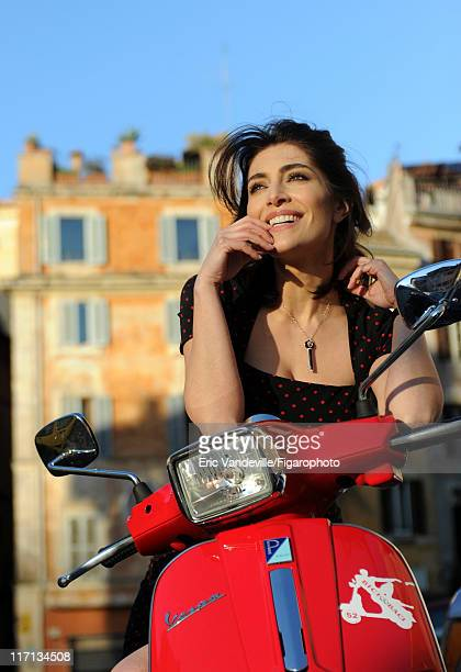 Actress Caterina Murino is photographed for Le Figaro Magazine on February 24 2011 in Rome Italy Published image Figaro ID 100473009 Dress by Dolce...