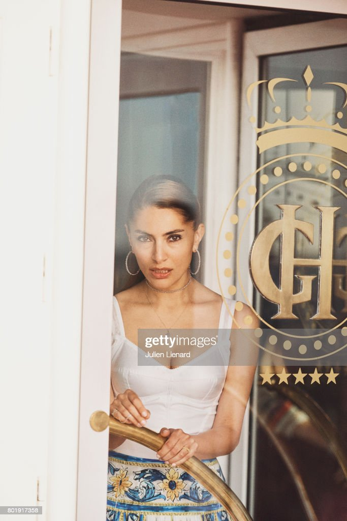 Actress Caterina Murino is photographed for Self Assignment on June 15, 2017 in Cabourg, France.