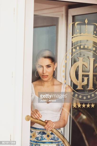 Actress Caterina Murino is photographed for Self Assignment on June 15 2017 in Cabourg France