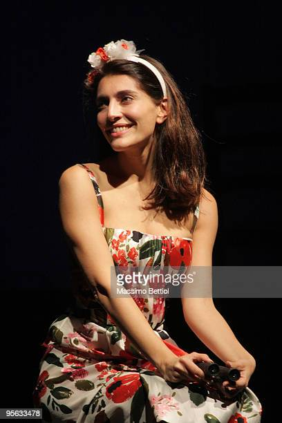 "Actress Caterina Murino performs in ""Dona Flor And Her The Two Husbands"" at the Massimo Theatre on January 7 , 2010 in Cagliari , Italy."
