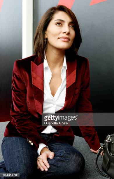 Actress Caterina Murino poses at the Mini Lounge during Rome Film Festival 2008 at the Auditorium della Musica on October 25 2008 in Rome Italy