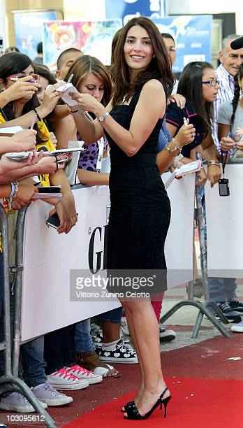 Actress Caterina Murino signs autographs for fans during Giffoni Experience 2010 on July 26 2010 in Giffoni Valle Piana Italy