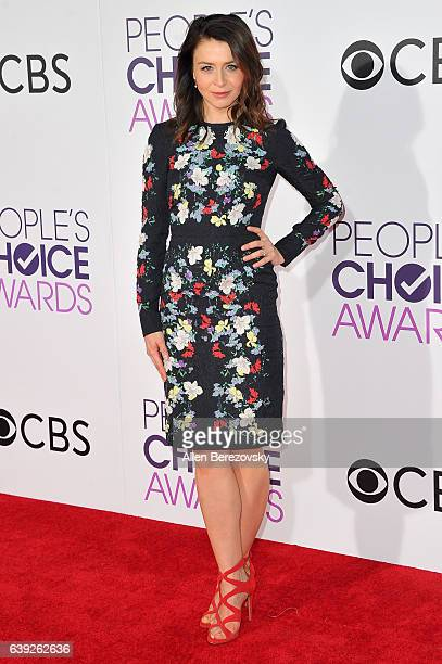 Actress Caterina Scorsone arrives at People's Choice Awards 2017 at Microsoft Theater on January 18 2017 in Los Angeles California