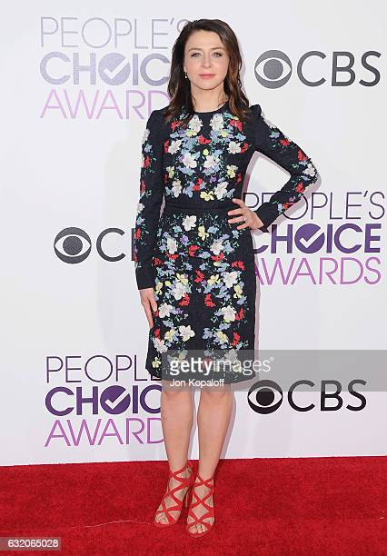 Actress Caterina Scorsone arrives at the People's Choice Awards 2017 at Microsoft Theater on January 18 2017 in Los Angeles California