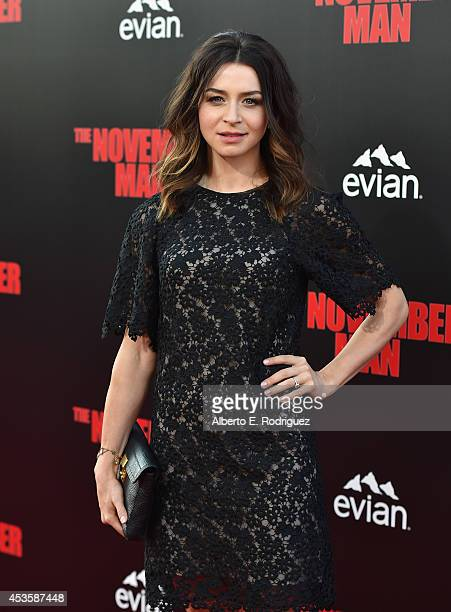 Actress Caterina Scorsone arrives to the World Premiere of Relativity Media's 'The November Man' at the TCL Chinese Theatre on August 13 2014 in...