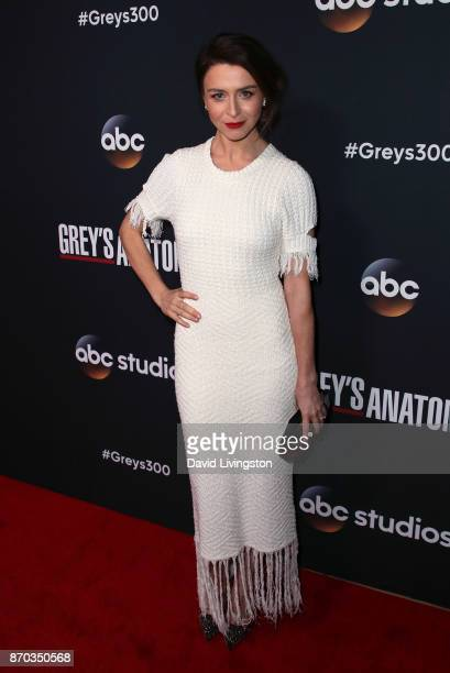 Actress Caterina Scorsone attends the 300th episode celebration for ABC's 'Grey's Anatomy' at TAO Hollywood on November 4 2017 in Los Angeles...