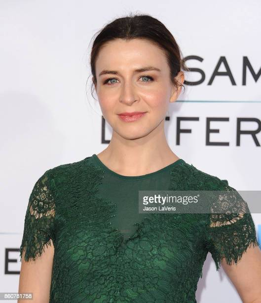 """Actress Caterina Scorsone attends the premiere of """"Same Kind of Different as Me"""" at Westwood Village Theatre on October 12, 2017 in Westwood,..."""