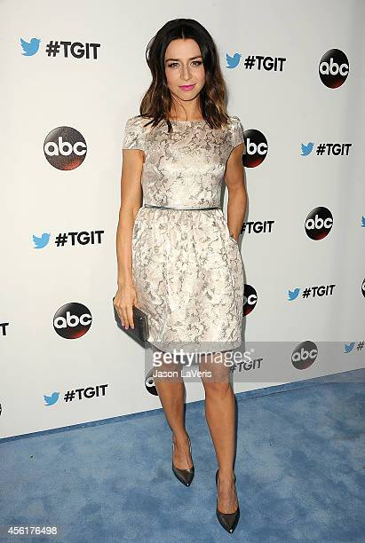 Actress Caterina Scorsone attends the #TGIT premiere event hosted by Twitter at Palihouse Holloway on September 20 2014 in West Hollywood California