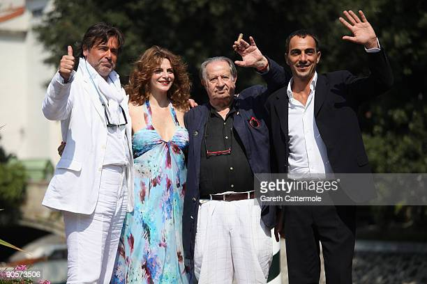 Actress Caterina Varzi , director Tinto Brass and guests are seen during the 66th Venice Film Festival on September 10, 2009 in Venice, Italy.