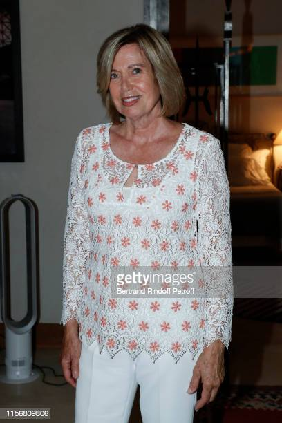Actress Catherine Alric attends Yanou Collart signs her Book Les Etoiles de ma Vie Stars of my Life on June 18 2019 in Paris France