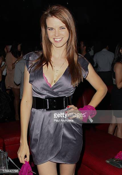 Actress Catherine Annett of Cinemax's 'Femme Fatales' attends the 9th Annual National Underwear Day charity event at Playhouse Hollywood on August 5...