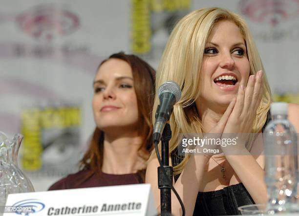 Actress Catherine Annette and actress Nikki Griffin participate in WonderCon Anaheim 2013 Day 1 held at Anaheim Convention Center on March 29 2013 in...