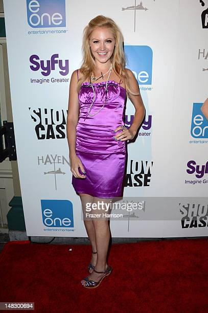 Actress Catherine Annette attends the 'HAVEN' Cast Celebrity and Fan Fest during 2012 ComicCon International held at Sidebar on July 12 2012 in San...